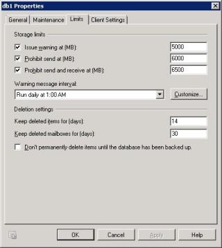 2Cum sa modifici in Microsoft Exchange limitarea de spatiu pentru toate casutele de email