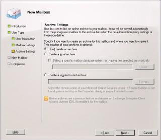 6Cum adaugi un mailbox nou in Exchange 2010