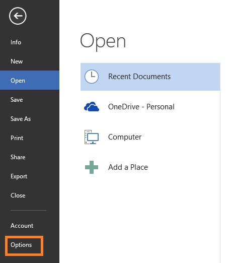 Afla cum poti opri sau porni functia AutoRecover sau AutoSave in office Word 2013 options