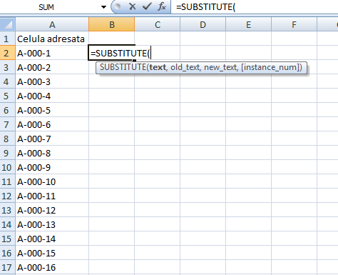 1_substitute_excel_inlocuire_caracter_sir_caractere_spatiu_punct