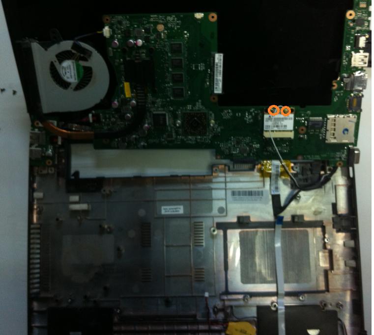 Inlocuire modul wifi la laptop asus x401u cabluri wifi