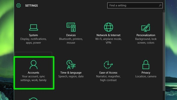 Windows-10-Accounts-option