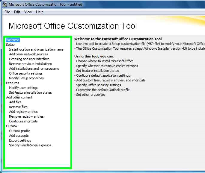 customization tool