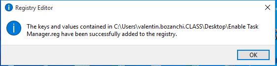 cum rezolvi eroare task manager cannot open error yes ok