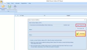 select outlook file