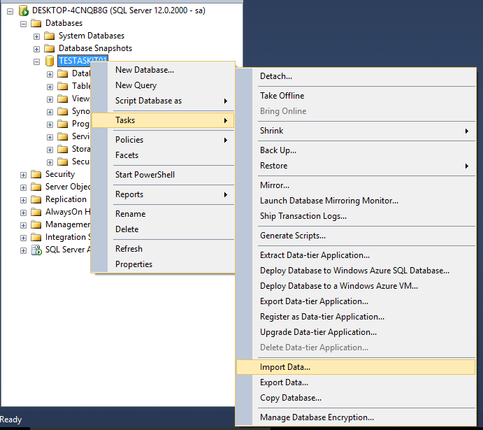1_SQL_Server_Creare_tabela_din_text
