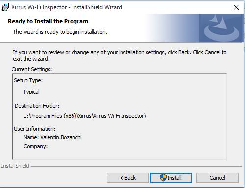 instal xirrus next folder install