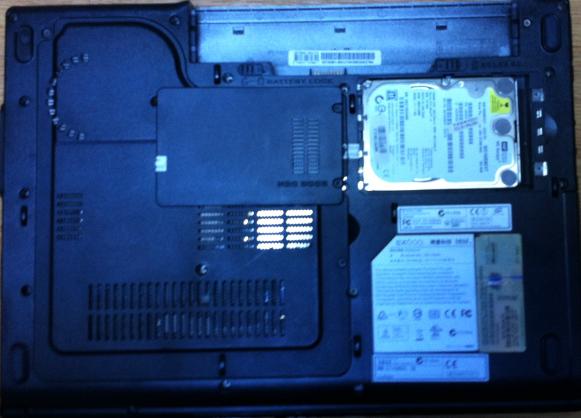 Înlocuire HDD laptop MSI EX600 capac
