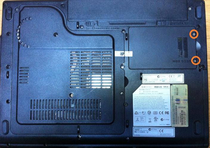 Înlocuire HDD laptop MSI EX600