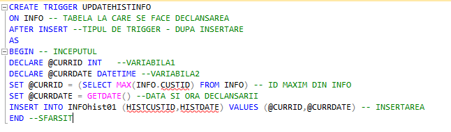 2_Creare_trigger_in_Microsoft_SQL_pentru_istoric