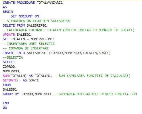 4_Creare_Store_Procedure_pentru_un_raport_de_vanzari