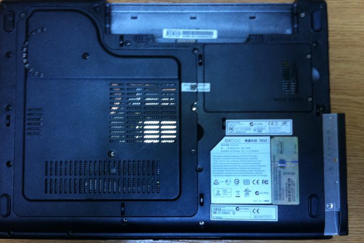 Inlocuire unitate optica msi ex600 lateral