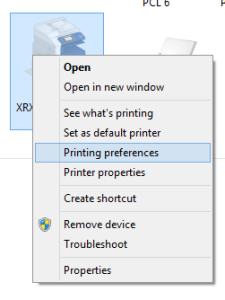 Printing-preferences