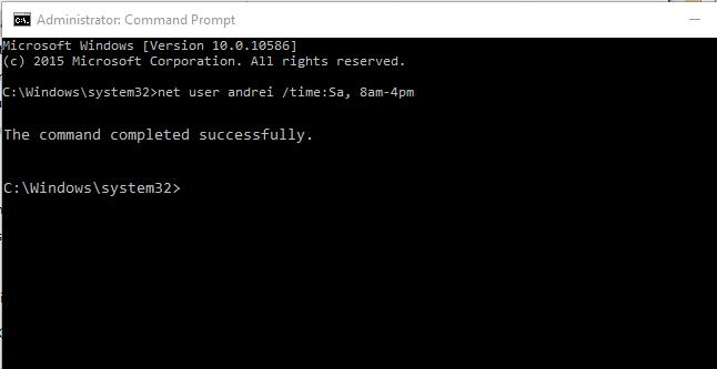 net user 1