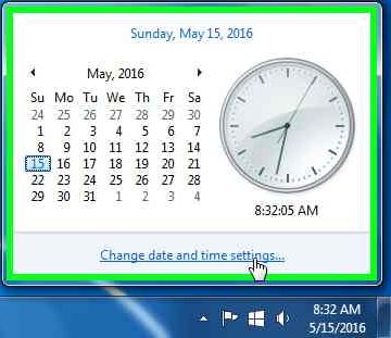 open-clock-settings