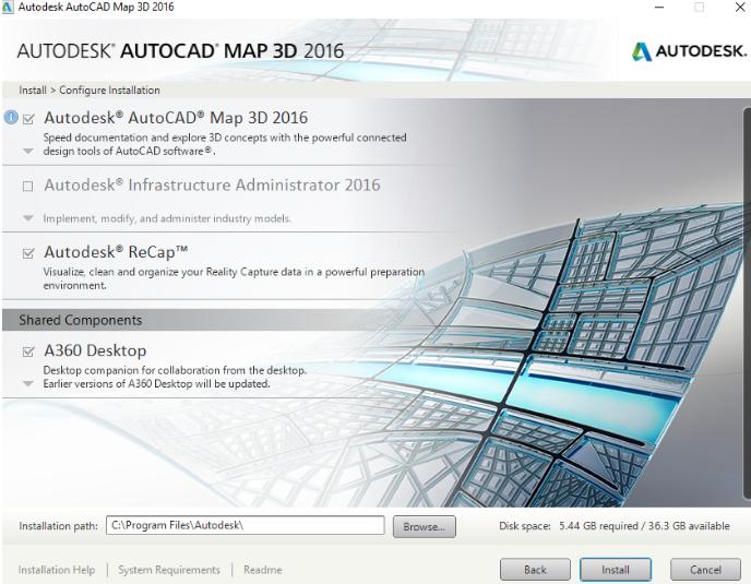 3_instalare_autocad_map_3d_2016