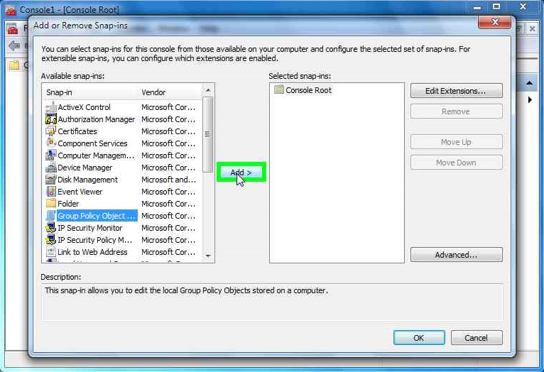 add-group-policy -object