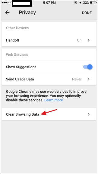 how to clear browsing history on iphone se