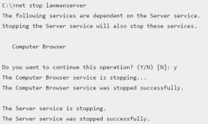 net-stop