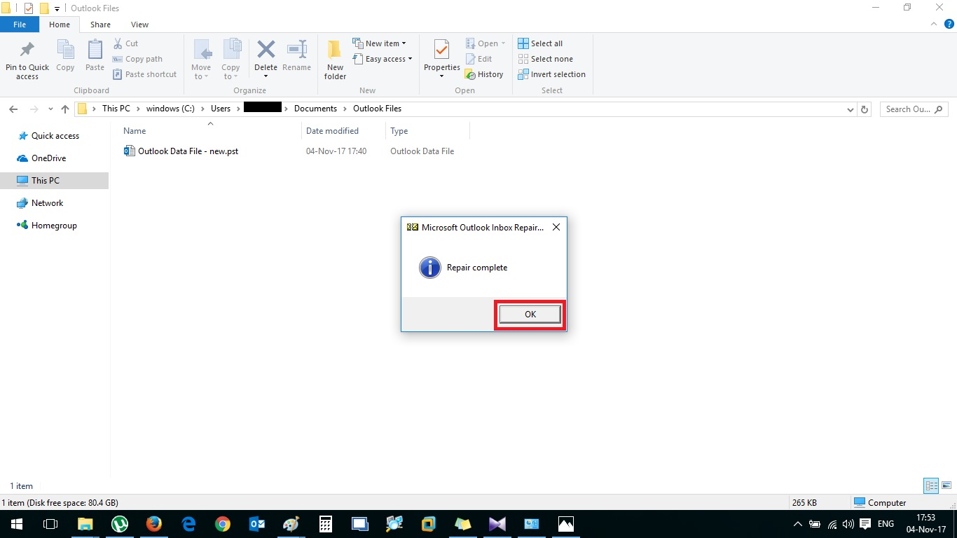 cannot start microsoft office outlook  cannot open oitlook