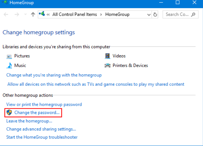 How to Recover or Change HomeGroup Password in Windows 10 ...
